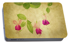 Portable Battery Charger featuring the photograph Fuschia #4 by Rebecca Cozart