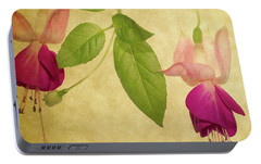 Portable Battery Charger featuring the photograph Fuschia #5 by Rebecca Cozart