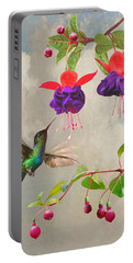 Fuchsia And Hummingbird Portable Battery Charger