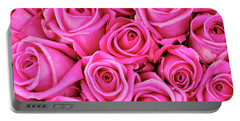 Fuschia Colored Roses Portable Battery Charger