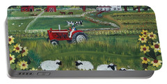 Portable Battery Charger featuring the painting Future Farmer by Virginia Coyle