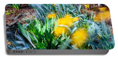 Fuzzy Daffodils Portable Battery Charger by Allan Levin