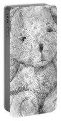 Portable Battery Charger featuring the drawing Fuzzy Wuzzy Bear  by Vicki  Housel