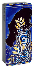 G Is For Gato - Cat Art With Letter G By Dora Hathazi Mendes Portable Battery Charger