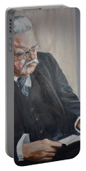 G K Chesterton Portable Battery Charger by Bryan Bustard