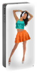 Portable Battery Charger featuring the digital art Gaby by Nancy Levan