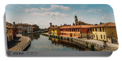 Gaggiano On The Naviglio Grande Canal, Italy Portable Battery Charger