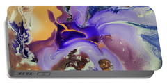Galactic Portal. Abstract Fluid Acrylic Pour Portable Battery Charger