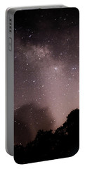 Portable Battery Charger featuring the photograph Galaxy Beams Me by Carolina Liechtenstein