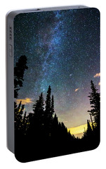 Portable Battery Charger featuring the photograph  Galaxy Rising by James BO Insogna