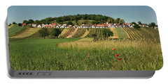 Portable Battery Charger featuring the photograph Galgenberg Kellergasse Im Weinviertel Im Sommer by Menega Sabidussi