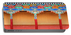 Portable Battery Charger featuring the photograph Gallery In A Buddhist Monastery by Alexey Stiop