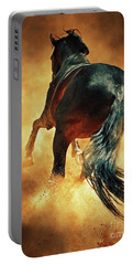 Galloping Horse In Fire Dust Portable Battery Charger