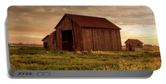 Galt Barn At Sunset Portable Battery Charger