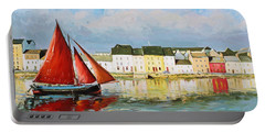 Galway Hooker Leaving Port Portable Battery Charger