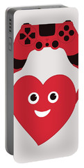 Gamer Heart Portable Battery Charger
