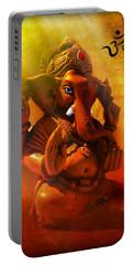 Ganesha Hindu God Asian Art Portable Battery Charger