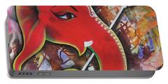 Ganesha The Fish God Concept Portable Battery Charger