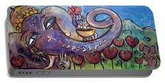 Ganesha With Poppies Portable Battery Charger