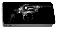Portable Battery Charger featuring the mixed media Gangster Gun by Daniel Hagerman