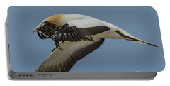 Portable Battery Charger featuring the photograph Gannets 1 by Werner Padarin