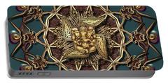 Portable Battery Charger featuring the digital art Ganpati Mandala  by Robert Thalmeier