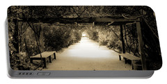 Garden Arbor In Sepia Portable Battery Charger by DigiArt Diaries by Vicky B Fuller