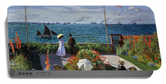 Garden At Sainte Adresse By Claude Monet Portable Battery Charger