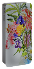 Portable Battery Charger featuring the painting Garden Bouquet by Beverley Harper Tinsley