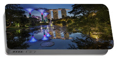 Portable Battery Charger featuring the photograph Garden By The Bay, Singapore by Pradeep Raja Prints