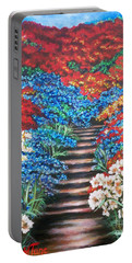 Red White And Blue Garden Cascade.               Flying Lamb Productions  Portable Battery Charger