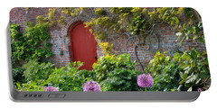 Garden Door - Paint With Canvas Texture Portable Battery Charger