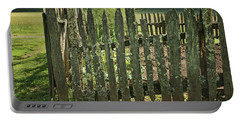 Portable Battery Charger featuring the photograph Garden - Fence by Nikolyn McDonald