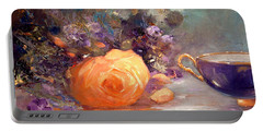 Garden Flowers Portable Battery Charger by Michael Rock