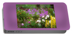 Portable Battery Charger featuring the photograph Garden Fun by Thom Zehrfeld