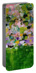Portable Battery Charger featuring the painting Garden Glory by Judith Rhue