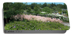 Garden In Maine Portable Battery Charger by Catherine Gagne