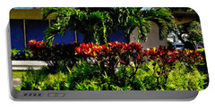 Garden Landscape 4 In Abstract Portable Battery Charger