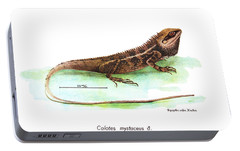 Portable Battery Charger featuring the drawing Garden Lizard by Nguyen van Xuan