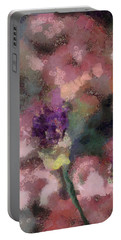 Portable Battery Charger featuring the mixed media Garden Of Love by Trish Tritz