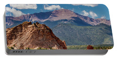 Portable Battery Charger featuring the photograph Garden Of The Gods And Pikes Peak by Bill Gallagher