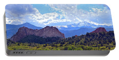 Garden Of The Gods Portable Battery Charger by Catherine Sherman