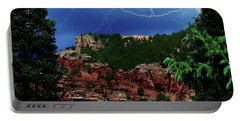 Portable Battery Charger featuring the digital art Garden Of The Gods by Chris Flees