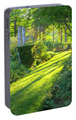 Portable Battery Charger featuring the photograph Garden Path by Tom Singleton
