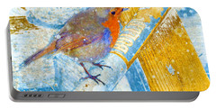 Portable Battery Charger featuring the photograph Garden Robin by LemonArt Photography