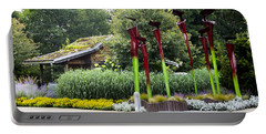 Garden Shed With Pitcher Plant Sculpture Portable Battery Charger