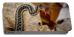 Garden Snake Portable Battery Charger by Eleanor Abramson