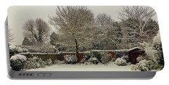 Portable Battery Charger featuring the photograph Garden Snow by Tony Murtagh