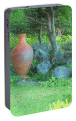 Portable Battery Charger featuring the photograph Garden Urn by Tom Singleton
