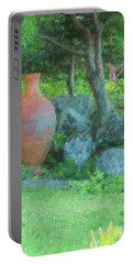 Garden Urn Portable Battery Charger by Tom Singleton